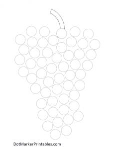 Dot Marker Printables:  Grapes