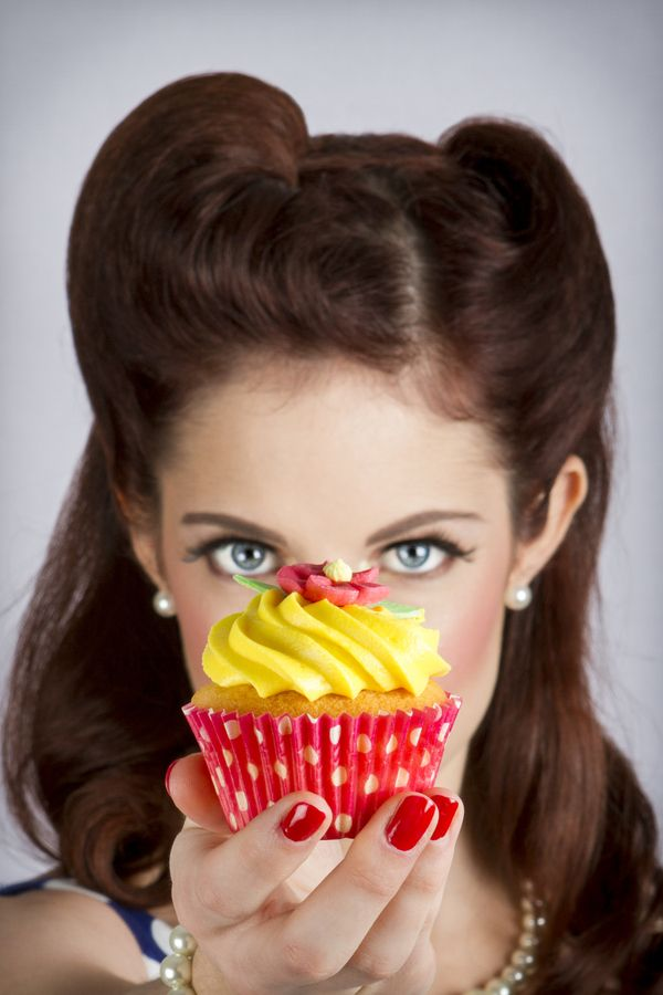 Cupcake Pin Up Something with a cupcake and a cherry on top or 50 and fabulous?
