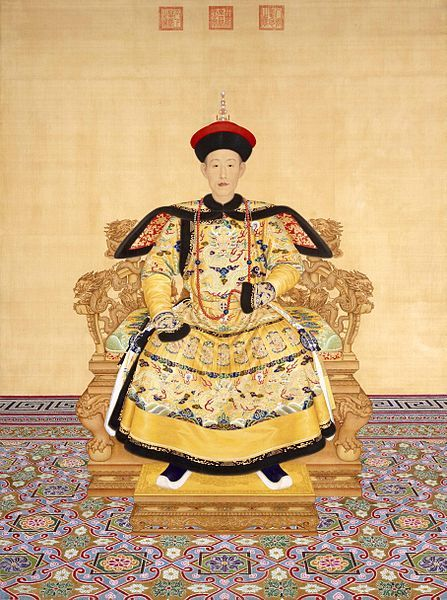 The Qianlong Emperor (Chien-lung Emperor); born Hongli (Hung-li; Chinese: 弘曆; Möllendorff transliteration hung li); 25 September 1711 – 7 February 1799) was the sixth emperor of the Manchu-led Qing Dynasty, and the fourth Qing emperor to rule over China proper. The fourth son of the Yongzheng Emperor, he reigned officially from 11 October 1735 to 8 February 1796.