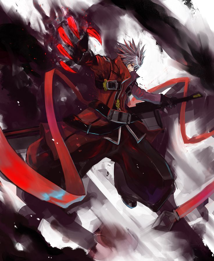 Anime Characters Fighting : Ragna the bloodedge blazblue game illustrations