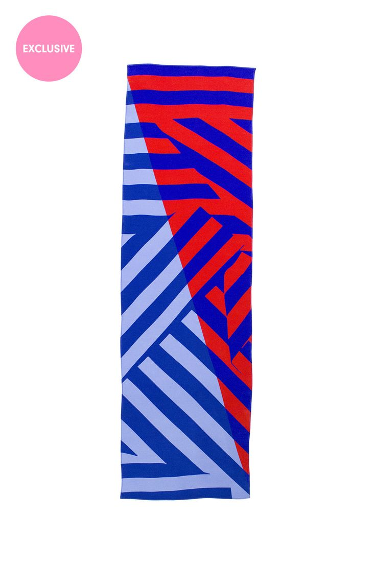 <p>Blue & Red Large Scale Geometric Print</p><p>Exclusive to the Danielle Romeril E-store. Wear AW16 ...