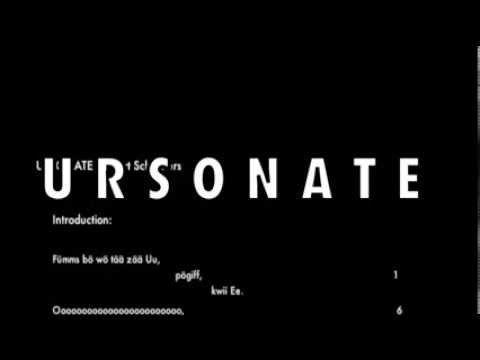 URSONATE KURT SCHWITTERS - YouTube