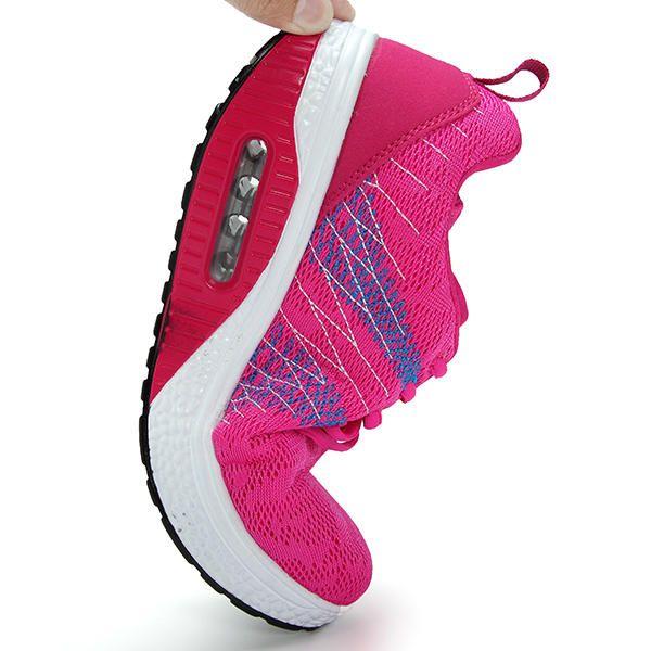 Rocker Sole Shoes Women Mesh Breathable Sport Outdoor Shoes - US$29.48