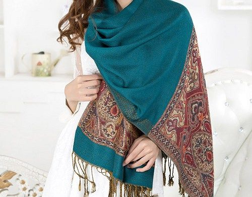 WORLDWIDE FREE SHIPPING  Beautiful handmade pashmina scarf, very elegant   Floral Pattern Chiffon Long Scarf, spring - fall - winter - summer fashion  It's a great way to casually & easily accesso