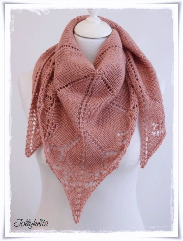 gratis Strickmuster Lace-Tuch // Lace-Schal