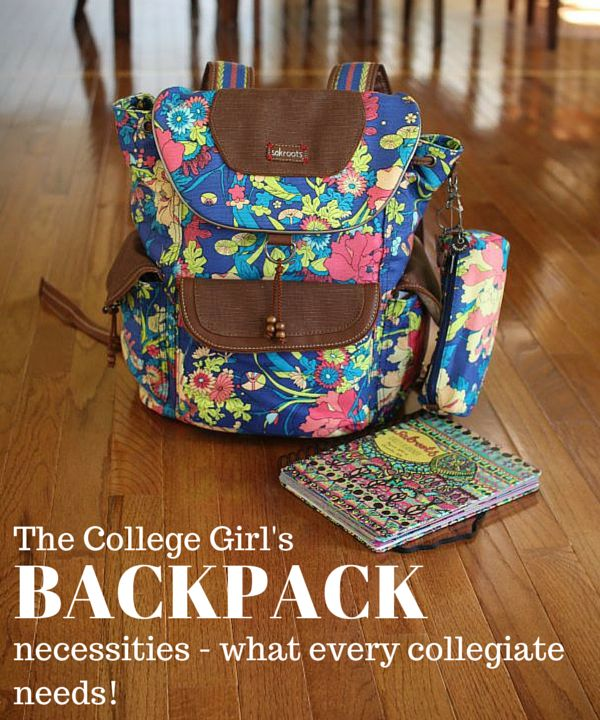 Wondering what you need in your college backpack? See what's in this backpack + tips and tricks for back to school!