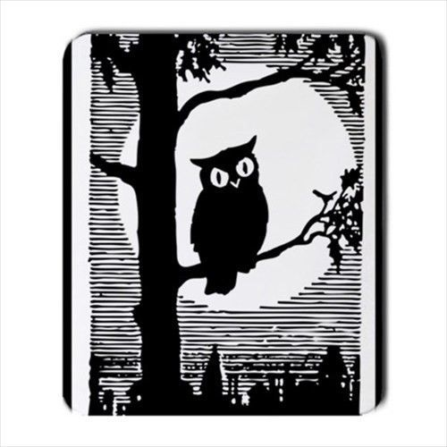 Owl In Tree Black And White Art New Computer Mouse Pad #shopping #owl
