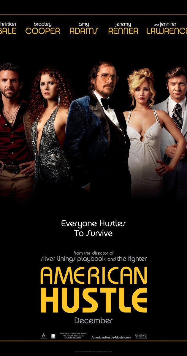 American Hustle (2013) - I am placing this on par with The Usual Suspects.  So well written and well acted with a super surprise (to me) actor thrown in.  I was guessing until the very end!  Great movie - though I don't see it as a comedy. - k. 1/20/14