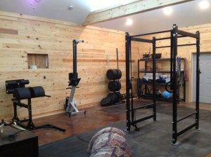 Very cool gym even though it's probably not a garage