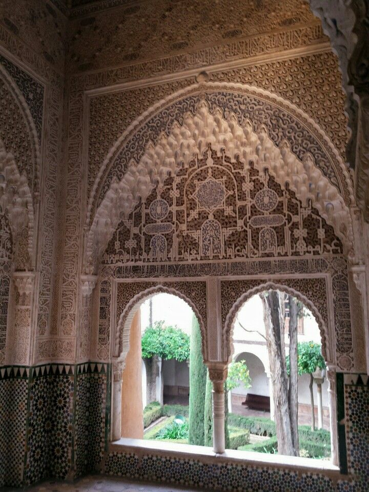 Inside the Alhambra Palace, Spain. Dec 2015.
