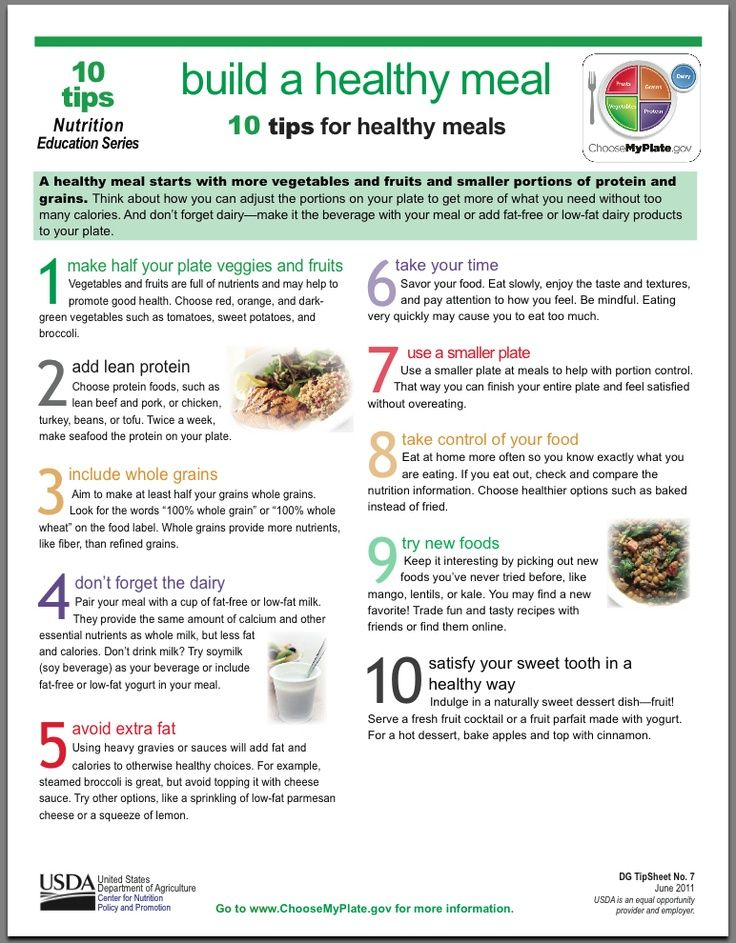 112 best healthy eating tips and tricks images on pinterest build a healthy meal 10 tips for healthy meals via bittopper forumfinder Gallery