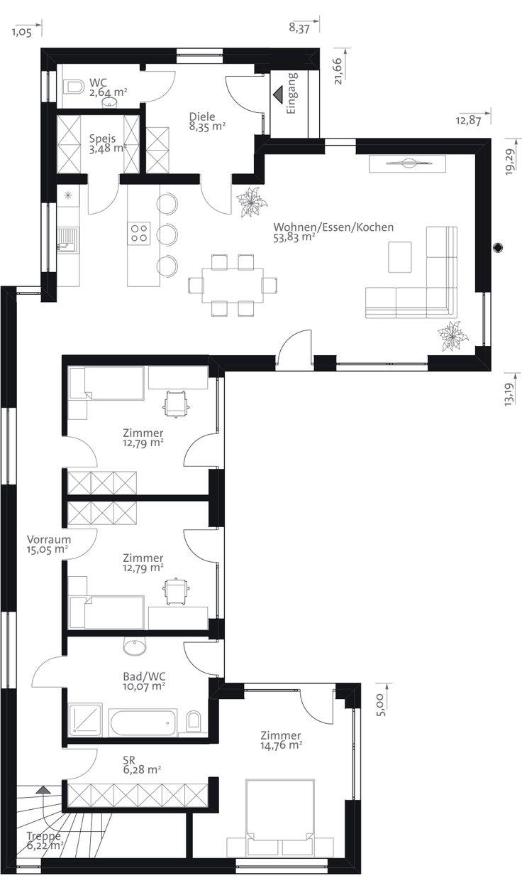 219 best haus images on pinterest house floor plans for Haus plan bilder