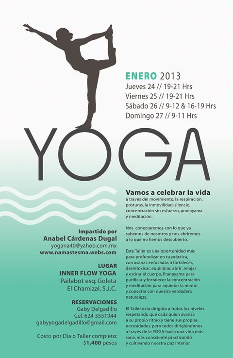 Best Yoga Flyer Images On   Yoga Flyer Flyer Design