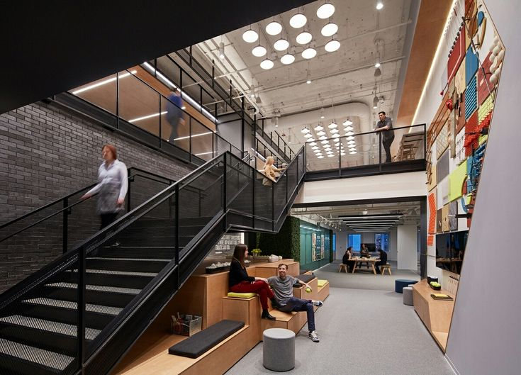 Technology can help fuse connections between different divisions, but the design of the office plays an equally important role in fostering collaboration . . . . #interior #design #commercial #corporate #inspiration #architecture #designer  #photography #love #beautiful #nature #blue #work #blackandwhite #ceo #workspace #fabmacdb #lagos⠀ ⠀⠀⠀ Image credits... Gensler