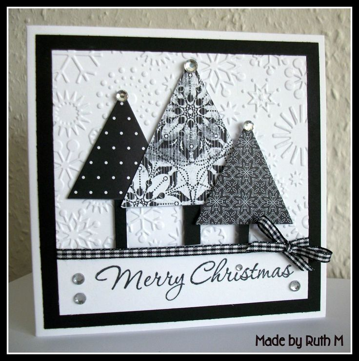 280 best Cards BLACK  WHITE images on Pinterest Cardmaking, Card - christmas cards black and white