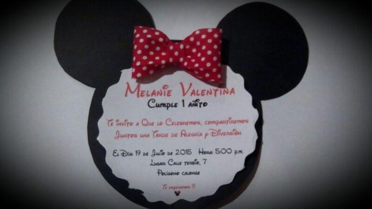 Tarjeta de invitacion de minnie mouse