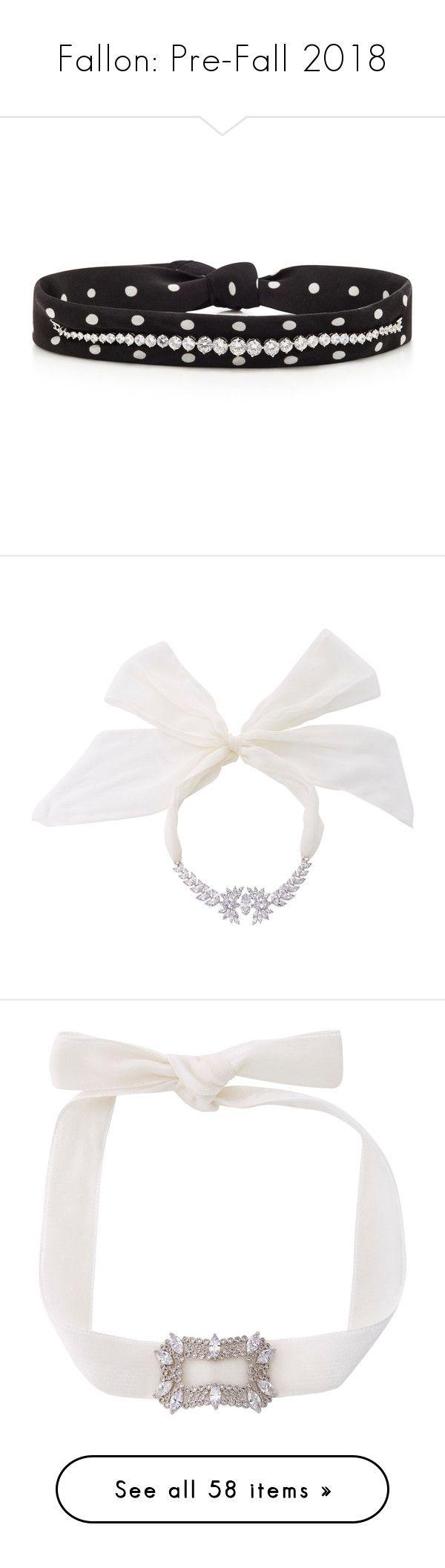 """Fallon: Pre-Fall 2018"" by livnd ❤ liked on Polyvore featuring jewelry, fallon, livndjewelry, prefall2018, livndfallon, necklaces, multi, layered jewelry, silk choker and silk choker necklace"