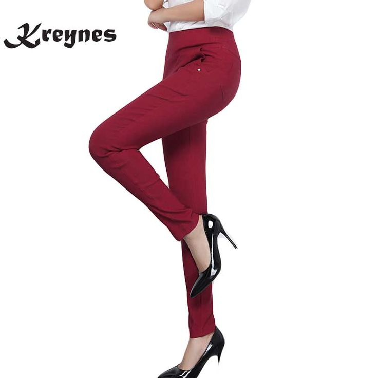 New Autumn Women Pants Plus Size 6XL Female Skinny High Waist Stretch Slim Fashion pencil Pants/ Trousers /Leggings women #Affiliate