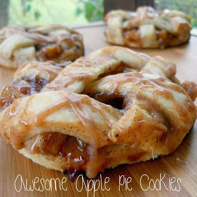 Awesome Apple Pie Cookies- beautiful and delicious, a great Fall treat!