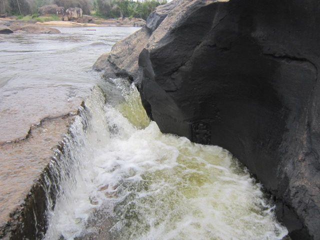 foamy river...
