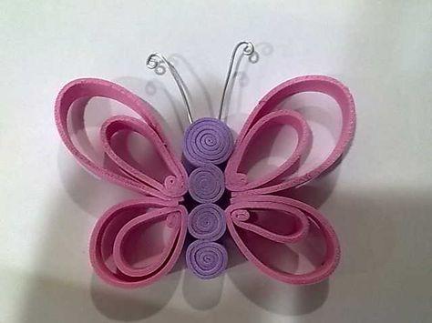 Bonitas mariposas de goma eva   mis creaciones