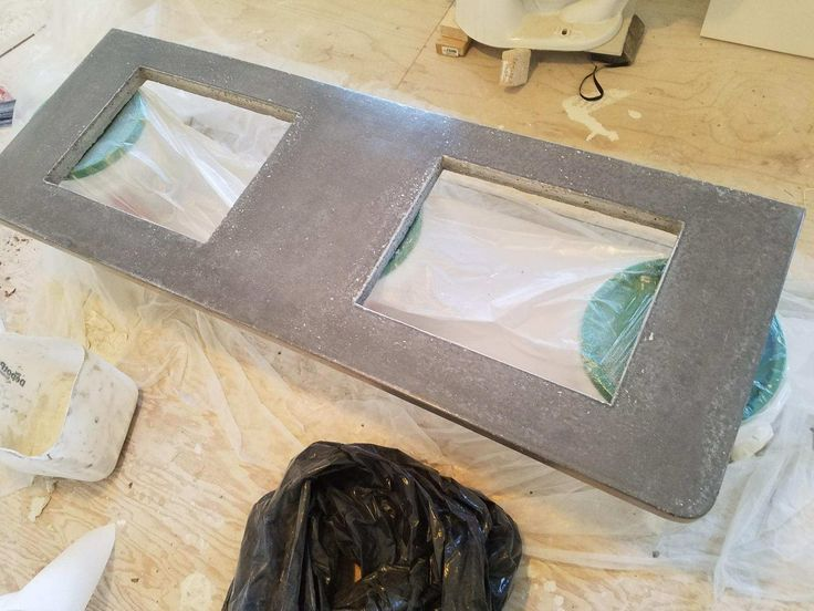 Concrete Countertops Being Sealed With Ghostshieldu0027s Countertop ...