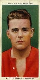 1935-36 W.D. & H.O. Wills Association Footballers #50 Vic Wright  Front