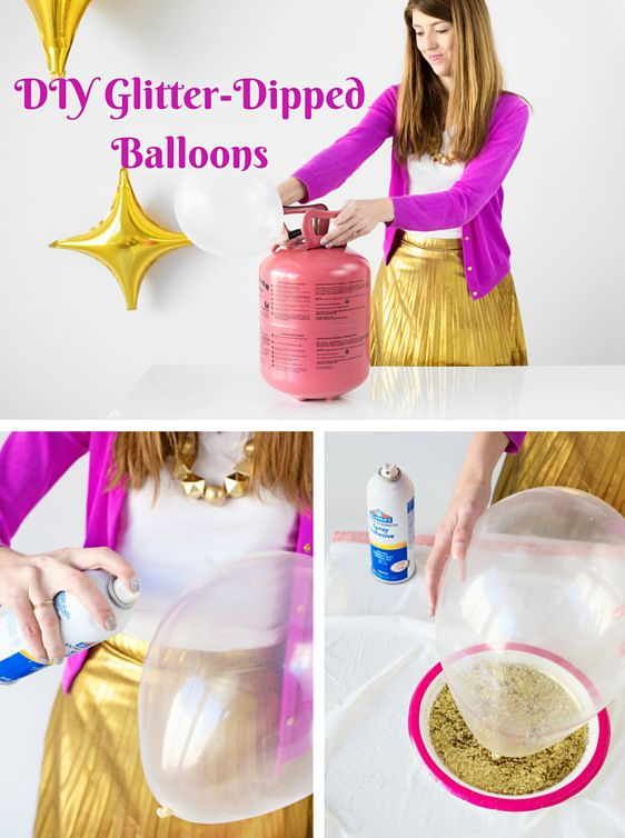 How to make #DIY Glitter-Dipped #Balloons