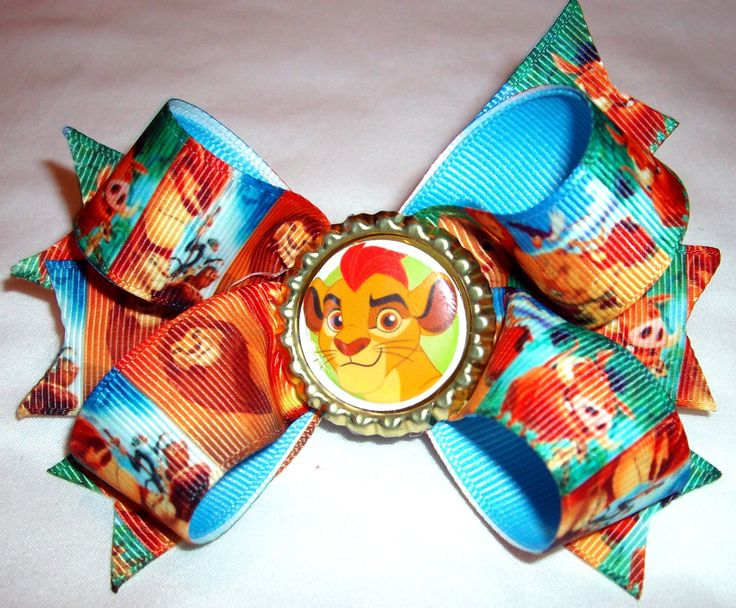 Lion Guard Lion King Disney Simba Girls Pretty  boutique hair bow by Hamptonfoxx on Etsy