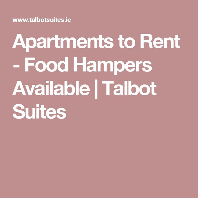 Apartments to Rent - Food Hampers Available | Talbot Suites