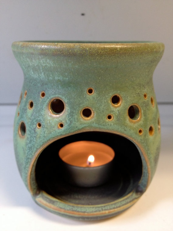 Essential oil burner and luminary by CorPottery on Etsy, $30.00