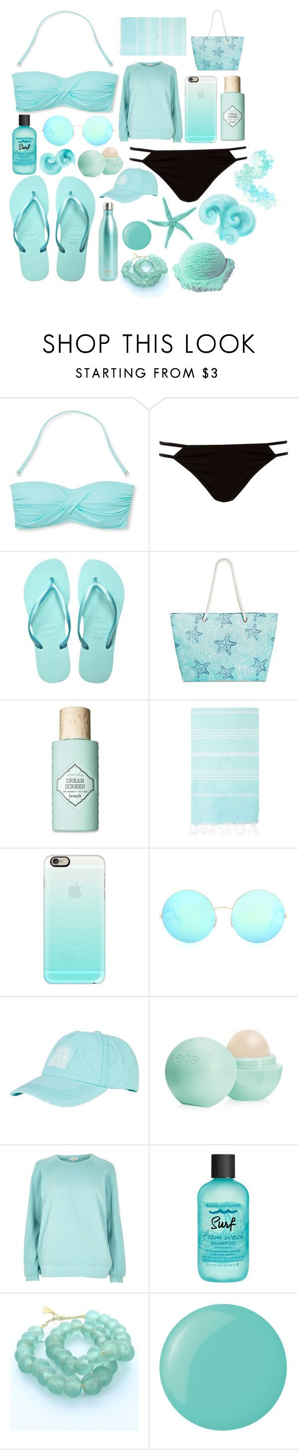 """""""Pool Party"""" by robinstill68 ❤ liked on Polyvore featuring Mossimo, River Island, Havaianas, Target, Benefit, Turkish-T, Casetify, Victoria Beckham, Billabong and Eos"""