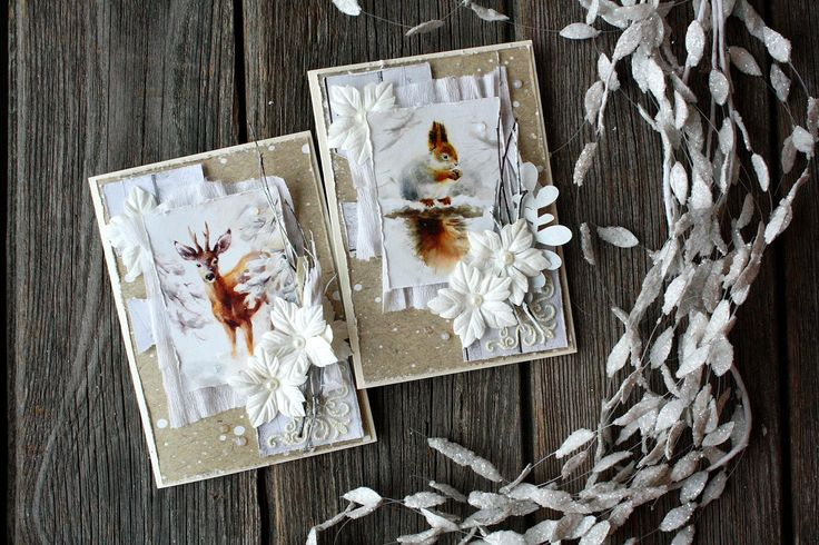 ScrapBerry's: a card by  Svetlana Vasilyeva, papers from A Taste of Winter collection