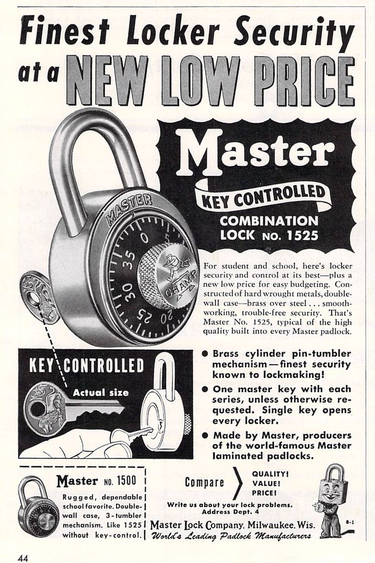 17 Best Images About Master Lock Print Ads On Pinterest