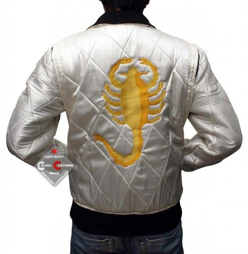 """http://www.celebsclothing.com/products/Ryan-Gosling-Drive-Scorpion-Jacket.html  Drive Scorpion worn by Ryan Gosling in Drive """"Ryan Gosling Drive"""". Get Huge Discounts on Celebrity and Movie Jackets at Our Online CeLebsclothing Store."""