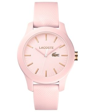 Lacoste Women's 12.12 Light Pink Silicone Strap Watch 38mm