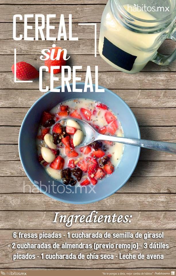 Ingredientes: – 6 fresas picadas – 1 cucharada de semilla de girasol – 2 cucharadas de almendras (previo remojo) – 3 dátiles picados – 1 cucharada de chía seca – Leche de avena