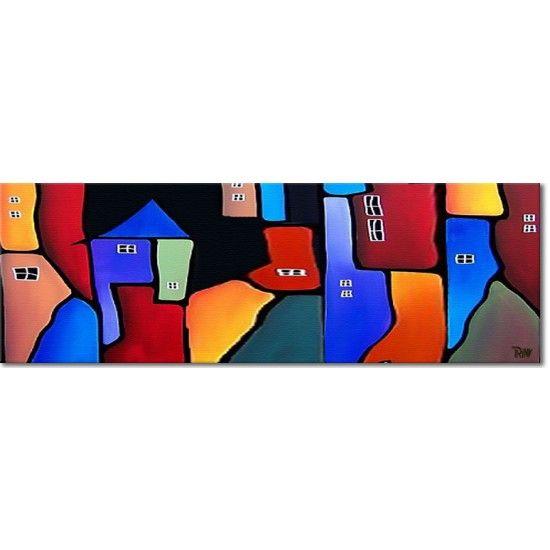 Acryl schilderij 'Mountain View' van Irina bij Kunstvoorjou.nl #irina #kunstvoorjou #schilderij