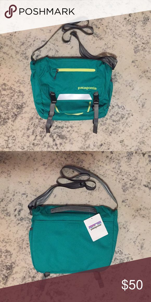 """NWT Patagonia MiniMass Commuter Bag Brand new!!! Fits a 13"""" computer. Water resistant. Beautiful teal color with yellow details. I mean, it's Patagonia... it's as good as it gets! Patagonia Bags Crossbody Bags"""