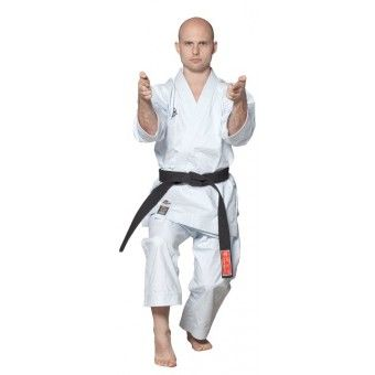 Top Karate Gi HAYASHI TENNO made of 12 oz middle-heavyweight woven and combed cotton, with fortified stitching WKF approved