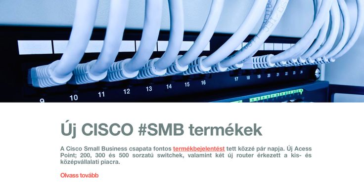 Új CISCO #SMB termékek a piacon!  Access Point, Switchek, Routerek. http://bit.ly/b1_smb