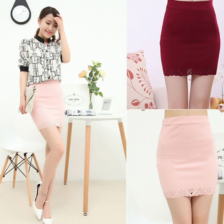Women sexy Mini Slim Skirt Hollow Tight Short Waist Dress Bodycon Solid Color  #new #fashion #Casual