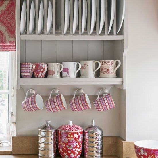 A kitchen plate rack with contemporary rustic charm | housetohome.co.uk