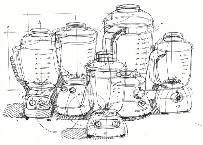 Sketch-A-Day 116: Blenders | March 25, 2010