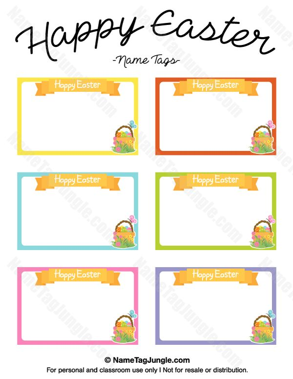 268 best name tags at nametagjungle images on pinterest free free printable happy easter name tags the template can also be used for creating items negle Image collections