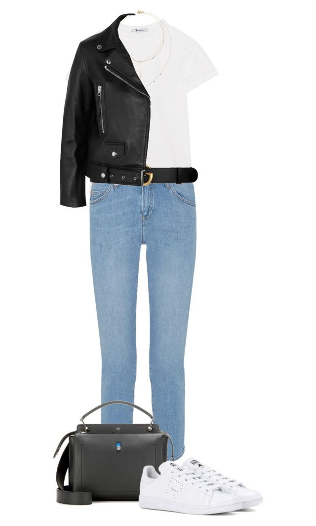 """""""Borrowed from the Boys: Boyfriend Jeans"""" by erikaje ❤ liked on Polyvore featuring T By Alexander Wang, M.i.h Jeans, Gucci, Loren Stewart, WWAKE, Acne Studios, Fendi, adidas and boyfriendjeans"""