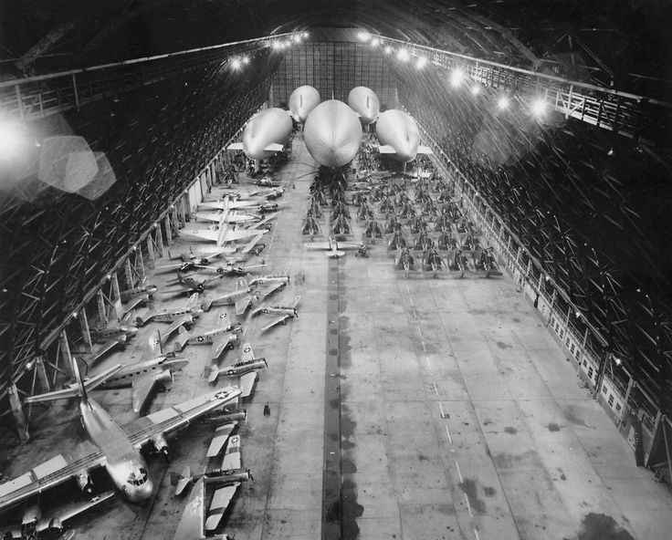 Hanger Two at Naval Air Station in South Weymouth, 1944