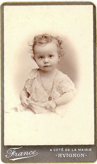 Antique Photograph Little Victorian Angel France