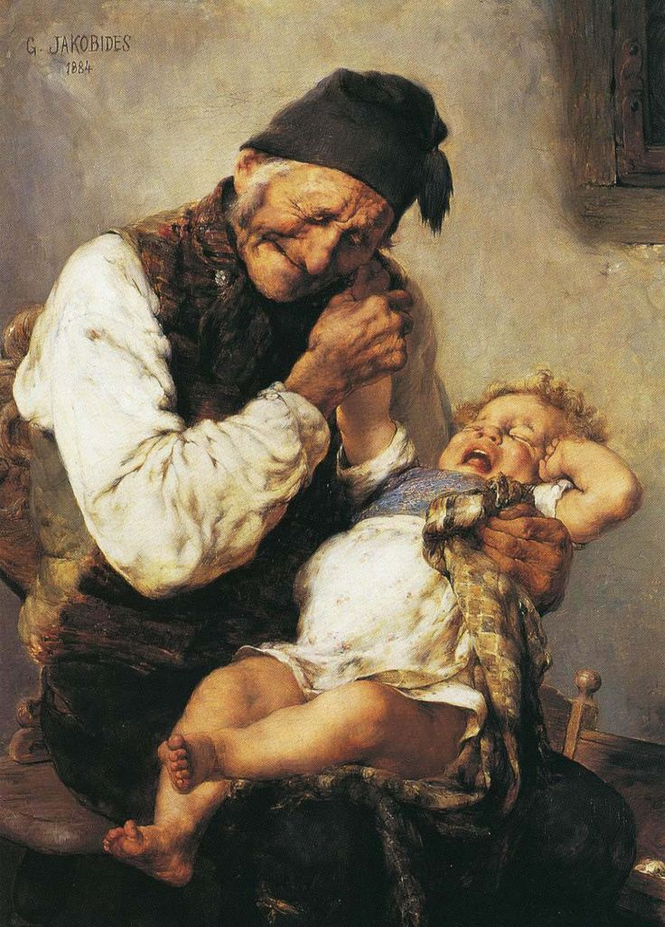 The Naughty Grandson (1884) by George Lakovidis (Greek, 1853 - 1932)