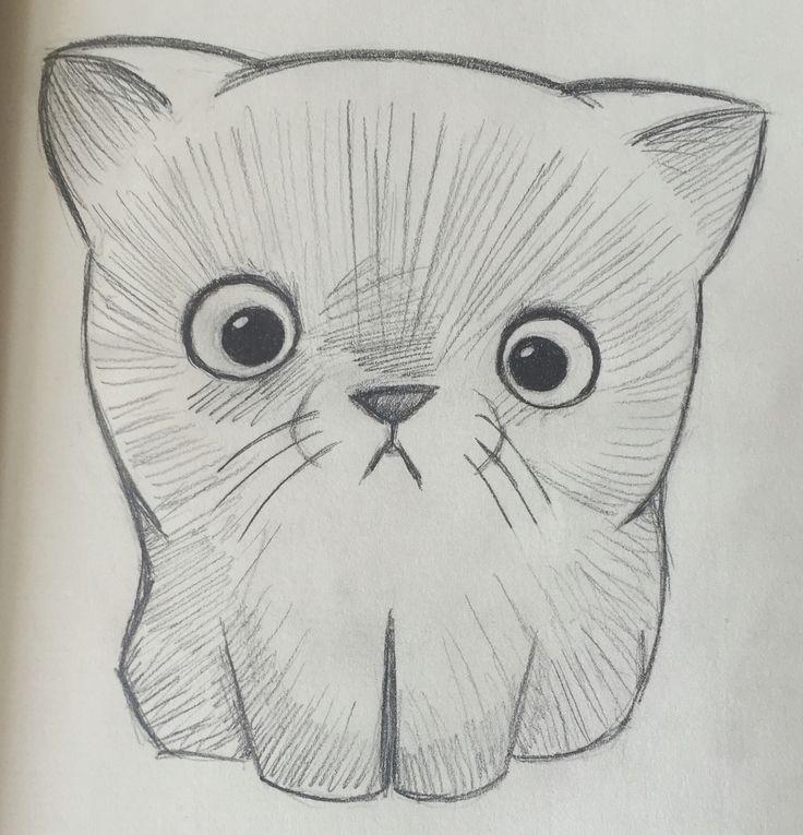By GokdFinch :3  Kitten :3, drawing, pencil, cat